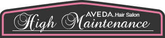 High Maintenance Aveda Hair Salon Logo